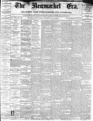Newmarket Era (Newmarket, ON1861), August 19, 1881