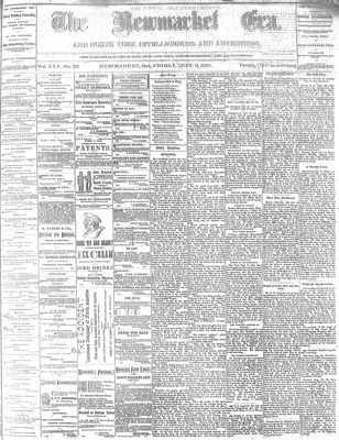 Newmarket Era (Newmarket, ON1861), September 9, 1881