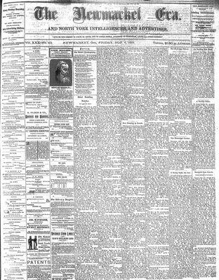 Newmarket Era (Newmarket, ON1861), November 4, 1881