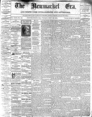 Newmarket Era (Newmarket, ON1861), November 25, 1881