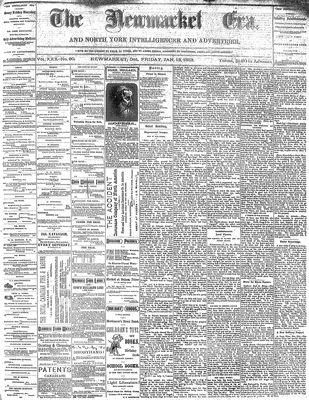 Newmarket Era (Newmarket, ON1861), January 13, 1882