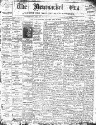 Newmarket Era (Newmarket, ON1861), February 10, 1882
