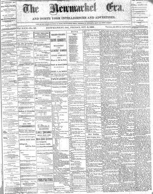 Newmarket Era (Newmarket, ON1861), October 6, 1882