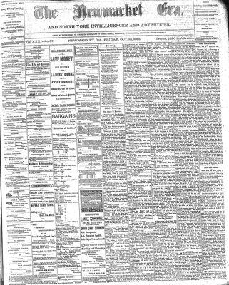 Newmarket Era (Newmarket, ON1861), October 13, 1882