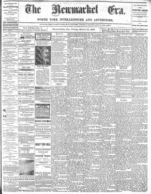 Newmarket Era (Newmarket, ON1861), March 16, 1883