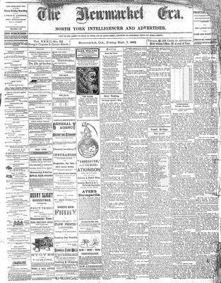 Newmarket Era (Newmarket, ON1861), September 7, 1883