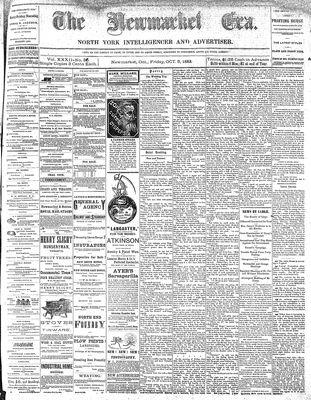 Newmarket Era (Newmarket, ON1861), October 5, 1883