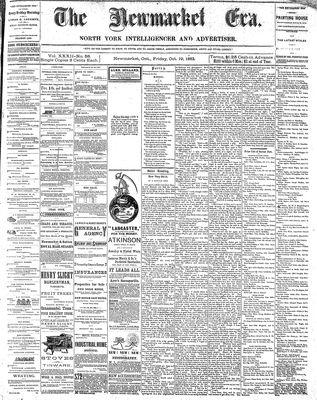 Newmarket Era (Newmarket, ON1861), October 19, 1883