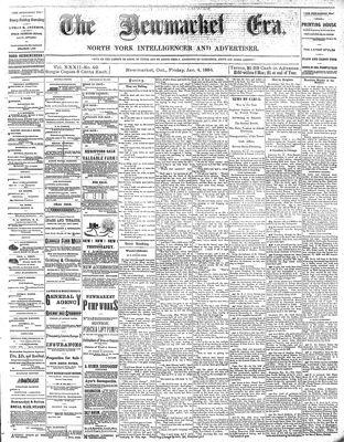 Newmarket Era (Newmarket, ON1861), January 4, 1884