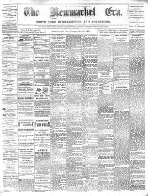 Newmarket Era (Newmarket, ON1861), January 18, 1884