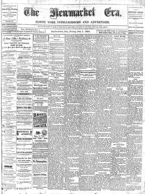 Newmarket Era (Newmarket, ON1861), February 1, 1884