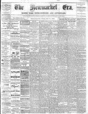 Newmarket Era (Newmarket, ON1861), March 21, 1884