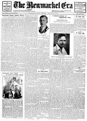 Newmarket Era (Newmarket, ON1861), May 2, 1930