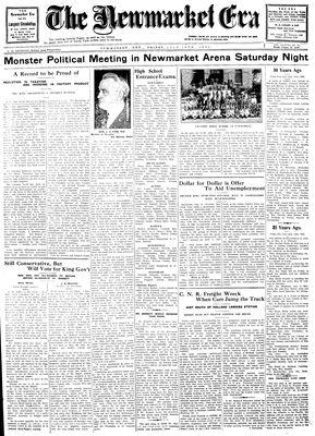 Newmarket Era (Newmarket, ON1861), July 18, 1930