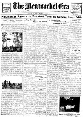 Newmarket Era (Newmarket, ON1861), September 5, 1930