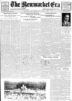 Newmarket Era (Newmarket, ON1861), January 30, 1931