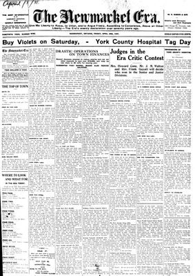 Newmarket Era (Newmarket, ON1861), April 3, 1931