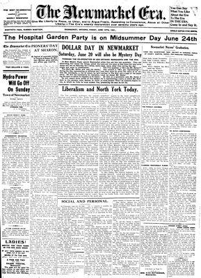 Newmarket Era (Newmarket, ON1861), June 12, 1931