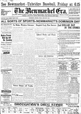 Newmarket Era (Newmarket, ON1861), June 26, 1931