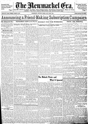 Newmarket Era (Newmarket, ON1861), July 24, 1931