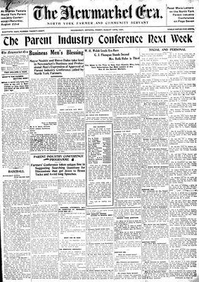 Newmarket Era (Newmarket, ON1861), August 14, 1931