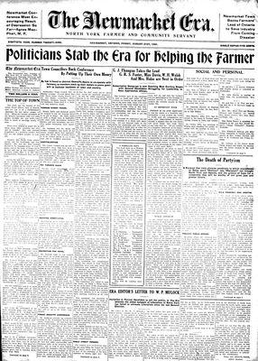 Newmarket Era (Newmarket, ON1861), August 21, 1931
