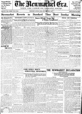 Newmarket Era (Newmarket, ON1861), September 25, 1931