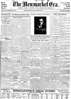 Newmarket Era (Newmarket, ON1861), October 2, 1931