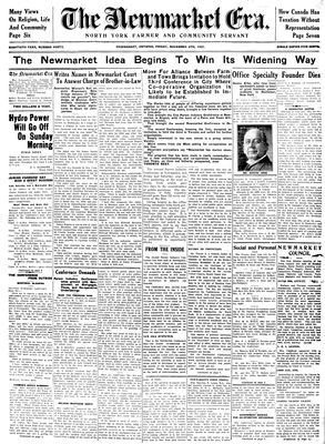 Newmarket Era (Newmarket, ON1861), November 6, 1931