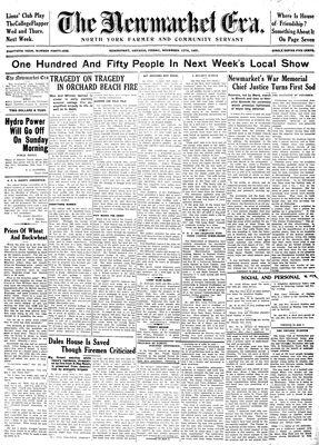 Newmarket Era (Newmarket, ON1861), November 13, 1931