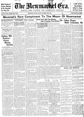 Newmarket Era (Newmarket, ON1861), November 20, 1931