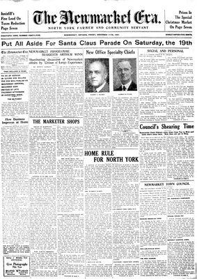 Newmarket Era (Newmarket, ON1861), December 11, 1931