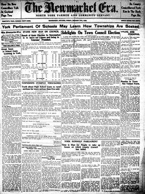 Newmarket Era (Newmarket, ON1861), January 8, 1932