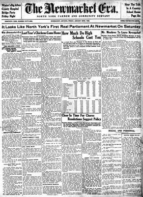 Newmarket Era (Newmarket, ON1861), January 22, 1932