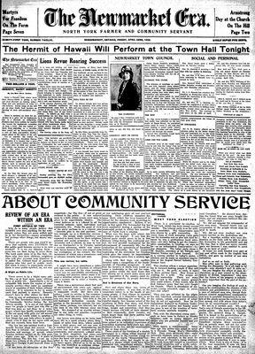 Newmarket Era (Newmarket, ON1861), April 22, 1932