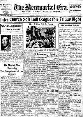 Newmarket Era (Newmarket, ON1861), May 27, 1932