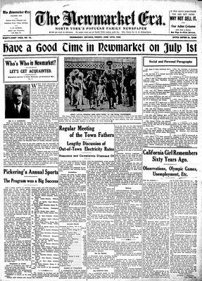 Newmarket Era (Newmarket, ON1861), June 10, 1932