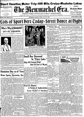 Newmarket Era (Newmarket, ON1861), July 1, 1932