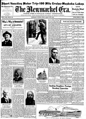 Newmarket Era (Newmarket, ON1861), August 12, 1932