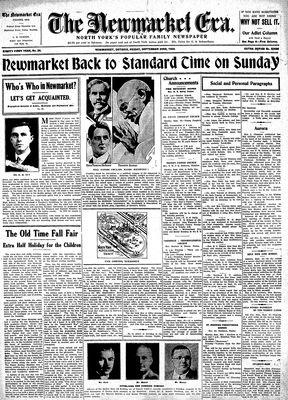 Newmarket Era (Newmarket, ON1861), September 23, 1932
