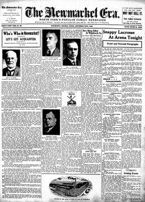 Newmarket Era (Newmarket, ON1861), September 30, 1932