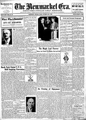 Newmarket Era (Newmarket, ON1861), October 21, 1932