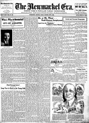 Newmarket Era (Newmarket, ON1861), October 28, 1932