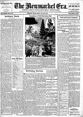Newmarket Era (Newmarket, ON1861), July 28, 1933