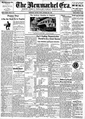 Newmarket Era (Newmarket, ON1861), November 3, 1933