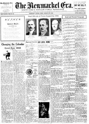 Newmarket Era (Newmarket, ON1861), January 5, 1934