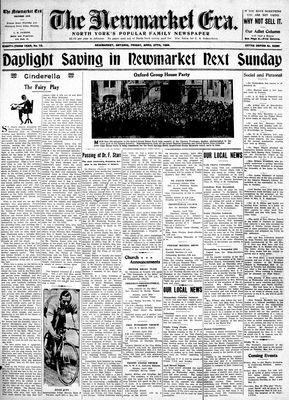 Newmarket Era (Newmarket, ON1861), April 27, 1934