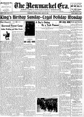 Newmarket Era (Newmarket, ON1861), June 1, 1934