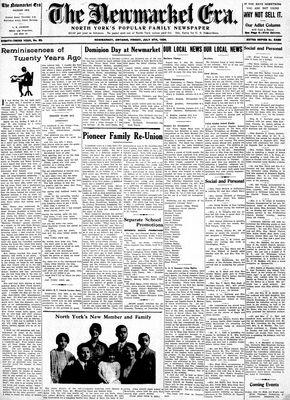 Newmarket Era (Newmarket, ON1861), July 6, 1934