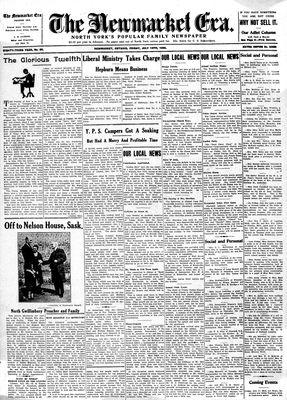 Newmarket Era (Newmarket, ON1861), July 13, 1934